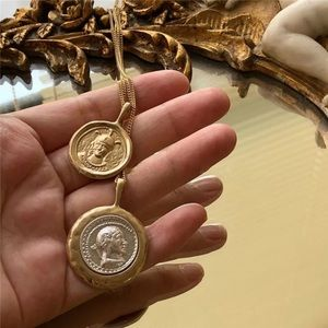 New 18k gold plated coins necklace
